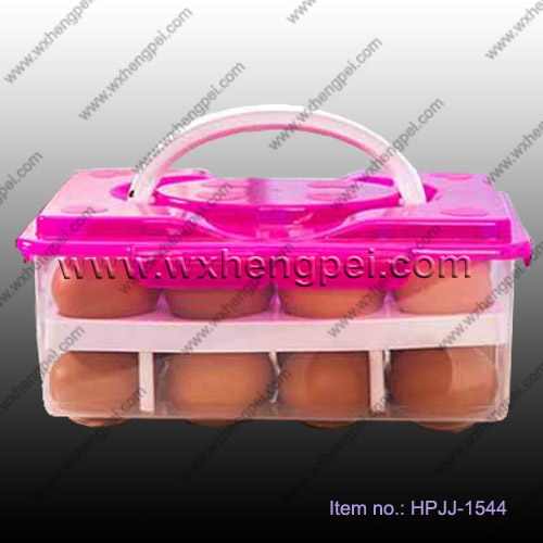 Double-deck eggs storage box