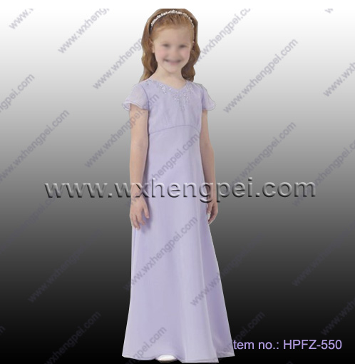 New style simple chic lace flower girl dress