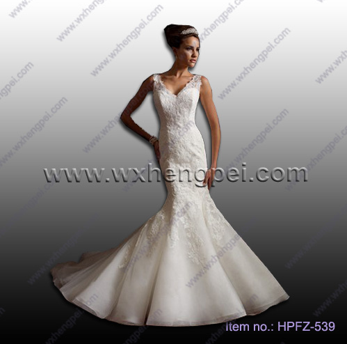 Floor length wedding dresses/mermaid lace dresses