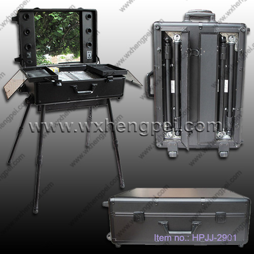 cosmetics case /trolley case /Large cosmetic case with lamps