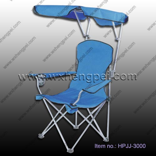 folding beach chair with awning