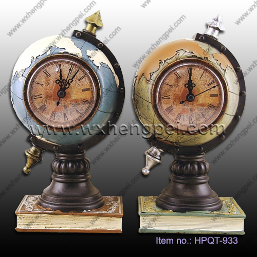 Retro globe decoration/ clock ornaments/Globe money box