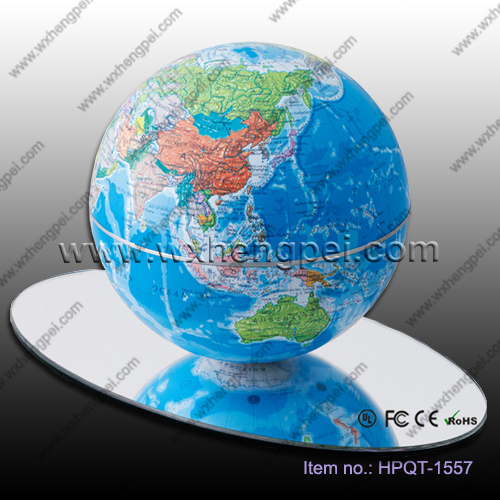 14cm/6 inches automatic rotating globe/Creative gift/Magnetic levitati