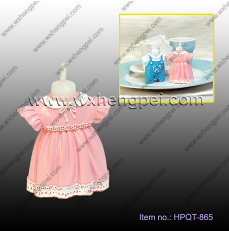 Wedding / Birthday Baby Bib Dress Candle Favor