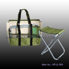 fabirc seat cooler bag fishing bags with seat (HPJJ-304)