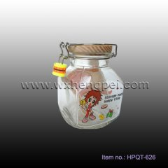 glass money box with lock (HPQT-626)