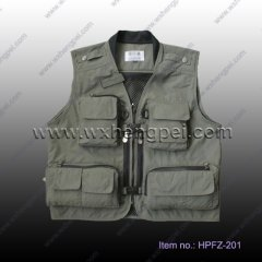 100% Cotton Photography Vests Multi Pocket Vest (HPFZ-201)