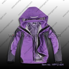 2012 new design women outdoor jacket (HPFZ-504)