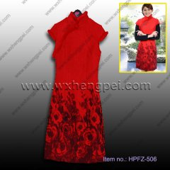 red winter cheongsam (HPFZ-506)