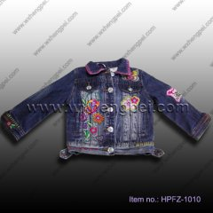 embroidered girls jacket (HPFZ-1010)