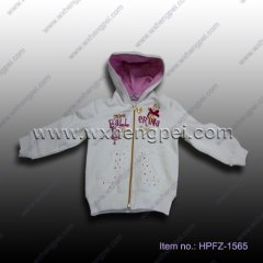 white jacket with golden zipper (HPFZ-1565)