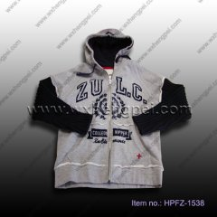 rib sleeve boys jacket(HPFZ-1538)
