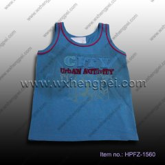 navy blue sleeveless t-shirt (HPFZ-1560)
