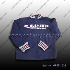 stand collar boys pullover (HPFZ-1532)