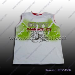 white sleeveless t-shirt (HPFZ-1556)