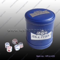 Leather dice cup (HPJJ-420)