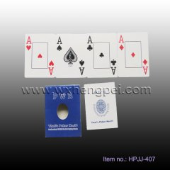 Paper cards customized poker playing card (HPJJ-407)