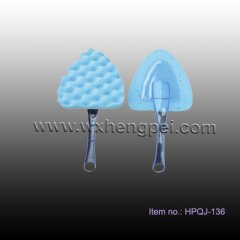 triangle shape car wash sponge with PP handle (HPQJ-136)