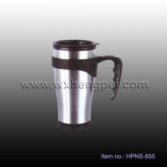 stainless steel travel mug with handle (HPNS-855)