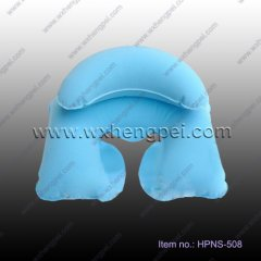 blue inflatable neck pillow set for travel (HPNS-508)