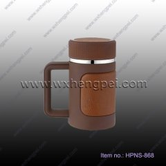 stainless steel vacuum thermos cup with handle(HPNS-868 )