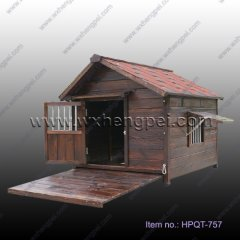 wooden big dog house outdoor home  (HPQT-757 )