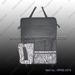 zebra stripe car back seat organizer with tissue holder(HPN