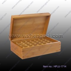 NEW bamboo packaging perfume box with laser engraving(HPJJ-