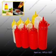 Plastic ketchup bottle tomato sauce cruet with pipefish(HPJJ-