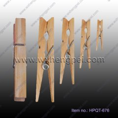 wooden cloth pin/ Colorful wooden clothes peg(HPQT-676)