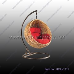 indoor or outdoor rattan hanging chair for adults(HPJJ-1711)