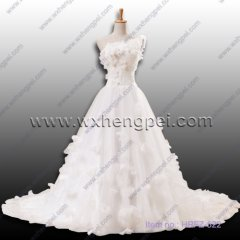 handmade flowers wedding dress(HPFZ-522)