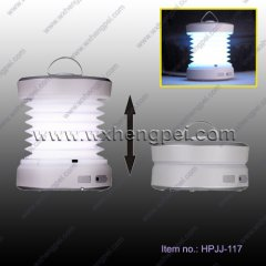 foldable dynamo camping light/ Dynamo power camping LED light(