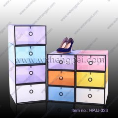 Factory price clear plastic shoe box / pp shoe box / clear sh