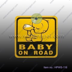 warning sign with suction cup- baby in car/ baby on board(HPW