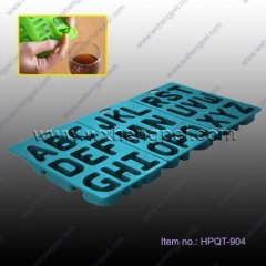 Silicone Letters Ice Molds Tray(HPQT-904)