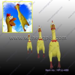 Promotional Squeeze Shrilling Screaming Chicken Fun Toy Gift