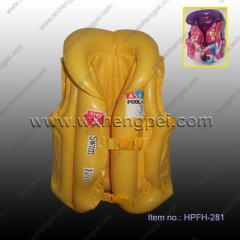 PVC Inflatable Lifejacket,Swimming Vest(HPFH-281)