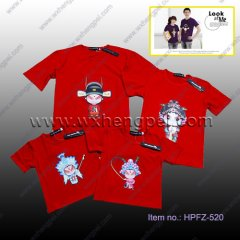 100% Cotton Parent-child T Shirt Clothes(HPFZ-520)