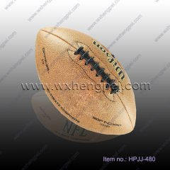 PVC leather machine stitched official size Rugby ball(HPJJ-48