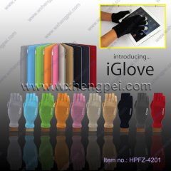 new fashion luxury body feather touchscreen gloves New style