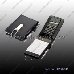 top quality organizer diary with calculator leather pocket di