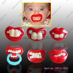 baby funny teeth pacifier/baby soother(HPJJ-1510)