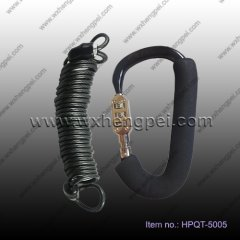 aluminum carabiner hook with rope&coded lock/ bicycle carabin