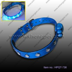 crystal pet collar with LED(HPQT-736)