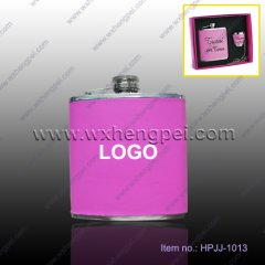 6oz pink flask for women(HPJJ-1013)