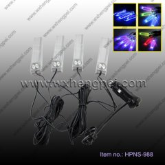 4x 3LED Car Charge 12V Glow Interior Decorative 4 in1 Atmosph