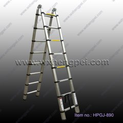 2.6m aluminium extension ladder with finger protection device(