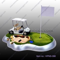 Desktop golf gift set smoking lighter/ashtray/Cigarette case(