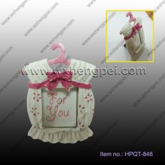 wedding gift Small white pink pied Frame(HPQT-846)
